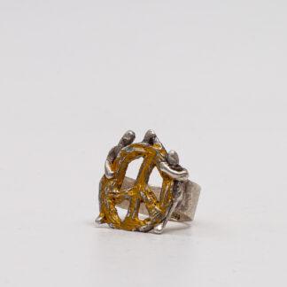 Pacem-Ring - Unikat-Schmuckkunst in Silber von der Designerin und Künstlerin Petra Wenski-Hänisch