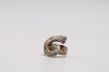 Unikat-Silber-Schmuckkunst in Spiraloptik von Petra Wenski-Hänisch, Ring, Spiraloptik, Silber