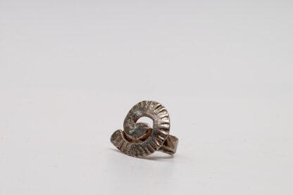 Unikat-Silber-Schmuckkunst von Petra Wenski-Hänisch in Spiraloptik, Ring, echt Silber